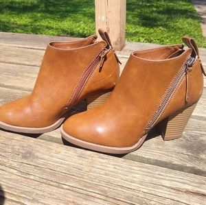 NWOT Faux-Leather Booties